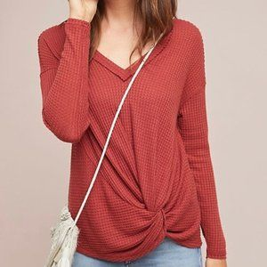 Akemi Kin for Anthropologie Knotted Waffle Top XS